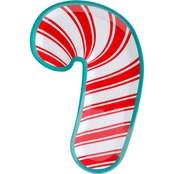 Gibson Home Santa Treat Candy Cane Platter