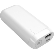 5200mAh 2.1A White Power Bank