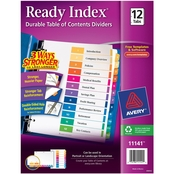 Avery Ready Index Table of Contents Dividers, 12-Tab Set
