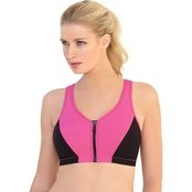Glamorise High Impact Zipper Sport Bra