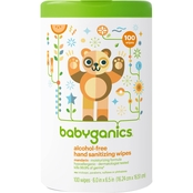 babyganics Alcohol-Free Hand Sanitizing Wipes, Mandarin Scent 100 Ct.