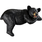 Design Toscano Lemont the Lovable Lounger Black Bear Statue