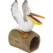 Design Toscano Splash the Pelican Gutter Guardian Downspout Statue
