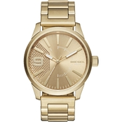 Diesel Men's Rasp Goldtone Asymmetric Dial Watch DZ1761