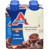 Atkins Dark Chocolate Royale RTD Shake 4 pk.
