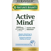 Nature's Bounty Active Mind Coated Caplets 60 Ct.