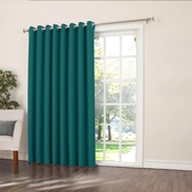 Sun Zero Gramercy Grommet Room Darkening Patio Curtain Panel 100 x 84