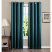 Sun Zero Hanson Crushed Grommet Room Darkening Curtain Panel, 50 x 63 Or 50 x 84