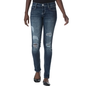 Almost Famous Juniors Destructed Skinny Jeans