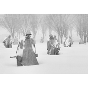 Capital Art Korean War Memorial Close Up in the Harsh Frozen Conditions Canvas
