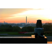 Capital Art Netherlands Carillon Arlington Lion Bronze View of Washington Canvas