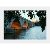 Capital Art Arlington Memorial Bridge Sunset View of the Lincoln Memorial Matte