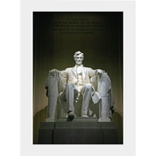 Capital Art Lincoln Memorial Inside Seen from the Front Portrait View Matte