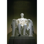 Capital Art Lincoln Memorial Inside Seen from the Front Portrait View Canvas