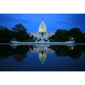 Capital Art US Capital West Reflecting-Pool View at Dawn Canvas