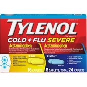 Tylenol Cold + Flu Severe Day/Night Caplets 24 Pk.