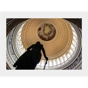 Capital Art US Capital Inside Rotunda View with George Washington Statue Matte