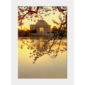 Capital Art Cherry Blossoms Blooming with the Jefferson Memorial Matte
