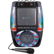 Singing Machine AGUA Dancing Water Karaoke with Lights and Wired Microphone