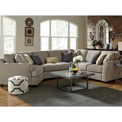Benchcraft Pantomine 4 Pc. Sectional LAF Cuddler/Wedge/Armless and RAF Loveseats
