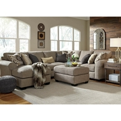 Benchcraft Pantomine 4 Pc. Sectional LAF Chaise/Armless Loveseat/Wedge/RAF Loveseat
