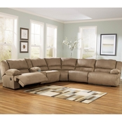 Ashley Hogan Sectional with Three Recliners