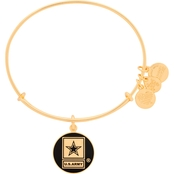 Alex and Ani Army Charm Bangle