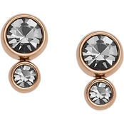 Fossil Rose Goldtone Heritage Glitz Earrings