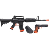 Crosman Defender Airsoft Rifle & Pistol Strike Kit (CA Compliant)