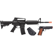 Crosman Defender Airsoft Rifle & Pistol Strike Kit