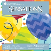 Sensations Jubilant Design Beverage Napkin 24 ct.