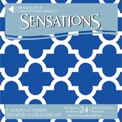 Sensations Blue Mosaic Design Beverage Napkins 24 ct.