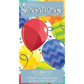 Sensations 24ct Dinner Napkin Blue Mosiac