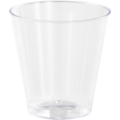 Sensations 2oz Plastic Shot Glass Clear, 20ct