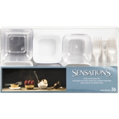 Sensations Mini Appetizer Set Clear / White, 72ct