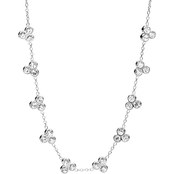 Fossil Silvertone 17 In. Vintage Glitz Dot Cluster Necklace