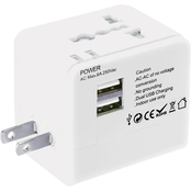 Lewis N. Clark Global Adapter with USB Charger
