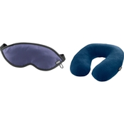 Lewis N. Clark Comfort Neck Pillow and Eye Mask Duo