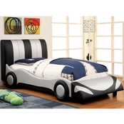 Furniture of America Super Racer Race Car Twin Bed