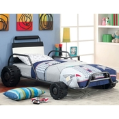 Furniture of America Turbo Racer Race Car Twin Bed