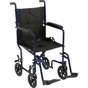 Drive Medical Lightweight Transport Wheelchair, 19 In. Seat