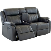 Klaussner Domino Console Reclining Loveseat