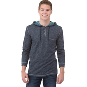 Unzipped Hoodie with Check Pocket