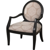 Powell Batik Pearl Black Chair