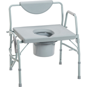 Drive Medical Bariatric Drop Arm Bedside Commode Chair
