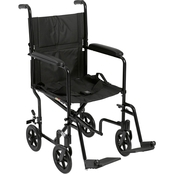 Drive Medical Lightweight Transport Wheelchair, 17 In. Seat