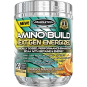 MuscleTech Amino Build Next Gen Energized Orange Mango Cooler, 30 Servings
