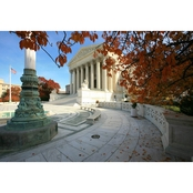 Capital Art US Supreme Court in the Fall Canvas