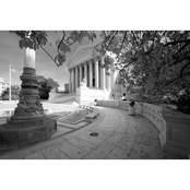 Capital Art US Supreme Court in the Fall, B&W, Canvas