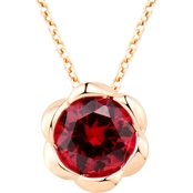 14K Rose Gold Over Sterling Silver, Lab Created Ruby Pendant